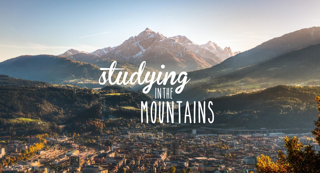 studying in the mountains
